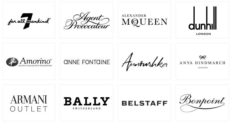 Bicester Village Brands 1