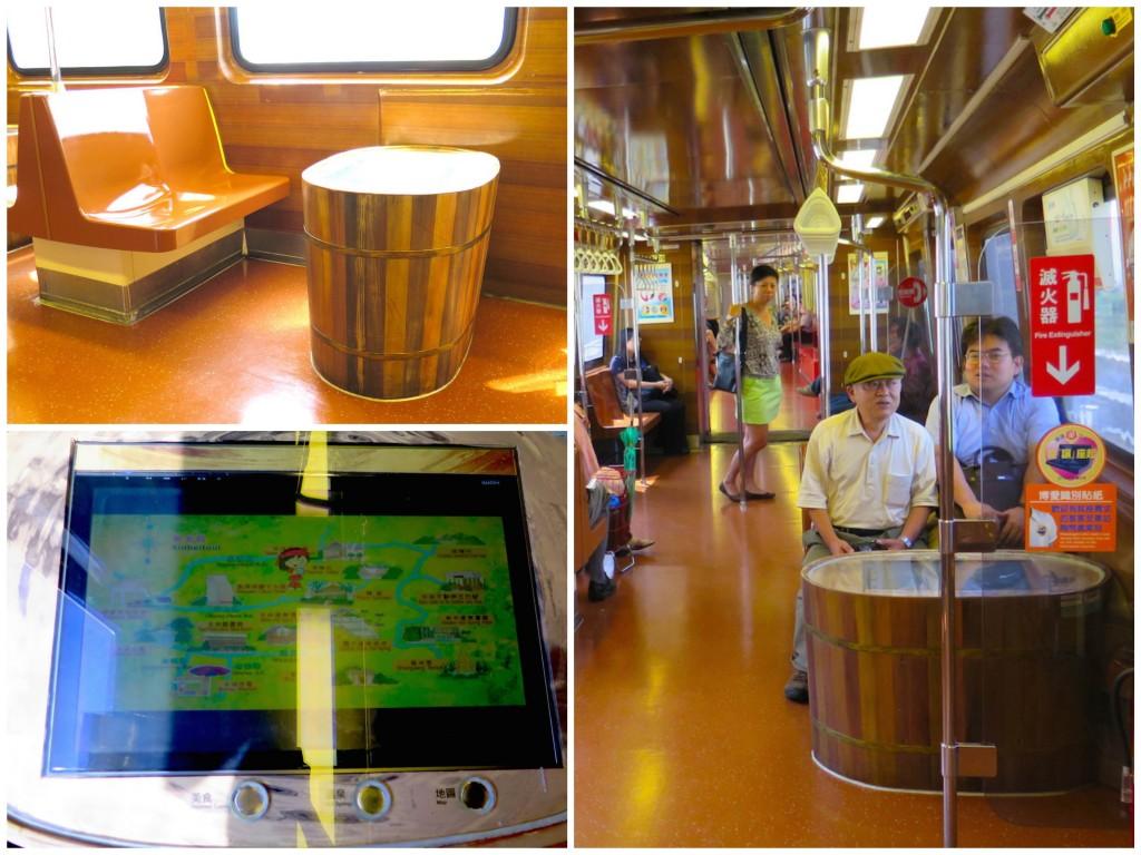 รูป 16.2 ภายในรถไฟ
