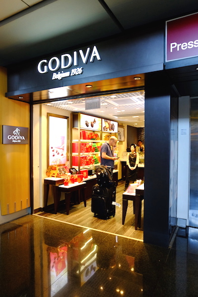 Godiva at Arrival Hall