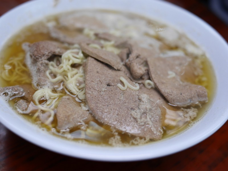 Wai Kee Noodle Cafe นิชชินตับหมู คู่ขนมปังสังขยา – ฮ่องกง