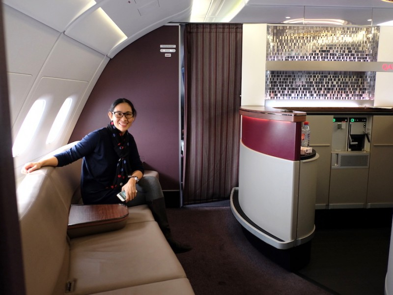 Business Class A380 by Qatar Airways – ลอนดอน