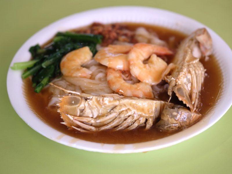 Tuck Kee Sah Hor Fun ก๋วยเตี๋ยวราดหน้ากุ้งแม่น้ำบิ๊กไซส์ – สิงคโปร์