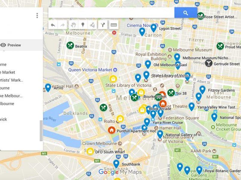 Google My Maps เนวิเกเตอร์ส่วนตัวของนักท่องเมือง